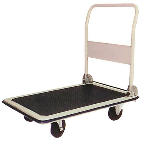 Carrello portacasse con manico pieghevole portata max 300 kg 4 ruote