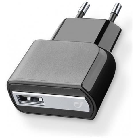 CELLULAR LINE Caricabatterie da rete USB 2A - Nero