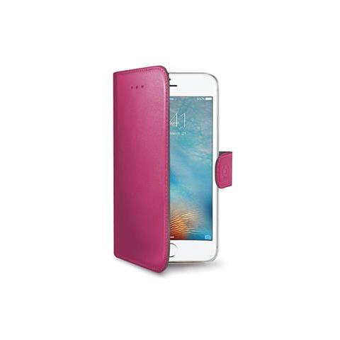 CELLY Flip Cover Custodia Wally in pelle per iPhone 7 Plus - Rosa