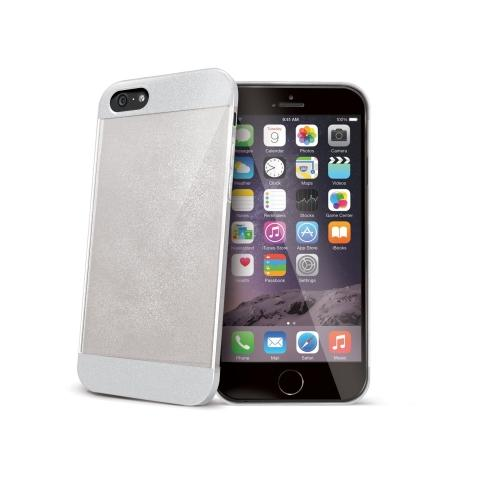 CELLY Glamme Glitter per iPhone 6 plus - Colore Bianco